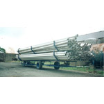 Aluminium Pipes on Trailer
