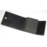 Drum over run brake pad
