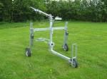 Centre pull raingun trolley